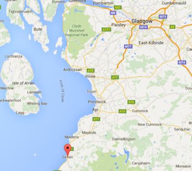 google maps Girvan