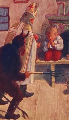 Mikuláš_a_Krampus_1900s