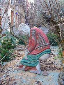 The caganer in the 2011 nativity scene in Bacelona